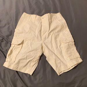 American Eagle White Cargo Shorts Size 32